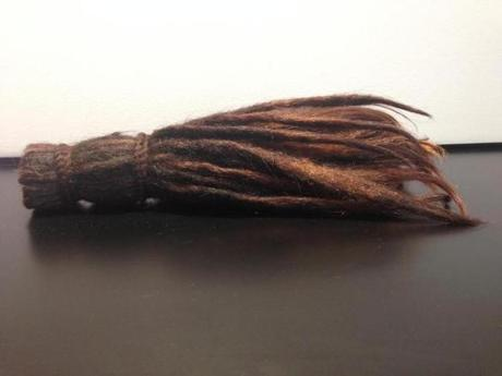 A piece of a man's dreadlocks.